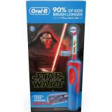 Periuta de dinti electrica + Penar cadou, Pentru copii, Oral-B D12.513 Vitality, Reincarcabila, Editie Star Wars