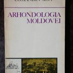 ARHONDOLOGIA MOLDOVEI - CONSTANDIN SION