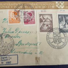 Iugoslavia 1941 - Arhitectura, serie pe rec. su stamp FDC+uzuale