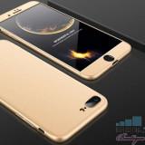 Husa iPhone 8 Plus / 7 Plus Acoperire Completa 360 De Grade Aurie
