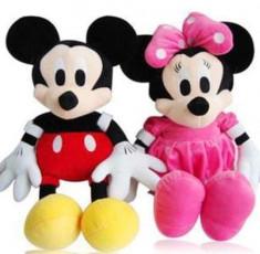 Mickey si Minnie Mouse roz set jucarii de plus muzicale 25cm foto