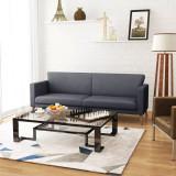 Canapea cu 3 locuri din material textil, gri închis