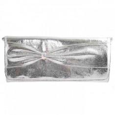 Plic dama, din piele naturala, Gina Hess, 1051-18, argintiu