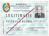 Legitimatie veteran de razboi 1991