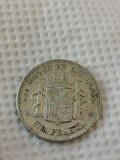 Spania 1 peseta 1870 argint