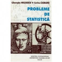Probleme de statistica