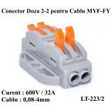 SET/4 BUC CONECTOR DOZA 2-2 PENTRU CABLU , LT-223/2