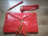 Plic, geanta dama, piele naturala, corai