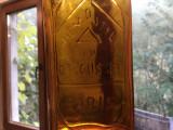Sticla veche cu scris in relief Hemostyl du dr Roussel Paris de colectie !