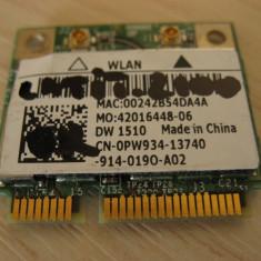 Placa wireless laptop Dell Latitude 2100, DW 1510, 0PW934, Broadcom BCM94322HM8L