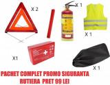 Cumpara ieftin Pachet complet siguranta auto rutiera omologate PROMO Stingator 1kg reincarcabil