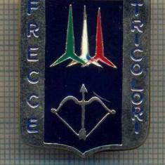 Y 1007 INSIGNA -AVIATIE MILITARA- FRECCE TRICOLORI -ITALIA-PENTRU COLECTIONARI