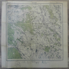 Piatra Neamt// harta Serviciul Geografic Armatei 1916