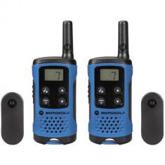 Resigilat : Statie radio PMR portabila Motorola TLKR T41 set cu 2 buc Albastru foto