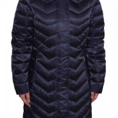 Jacheta textil dama, din poliamida, marca Geox, W8425H-F4386-G4-06, bleumarin metalic 42