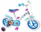 """Bicicleta pentru fetite cu roti ajutatoare, 16"""" 5-7 ani Frozen, Stamp"""