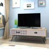 Masă laterală pentru TV 100x40x35 cm, Maro