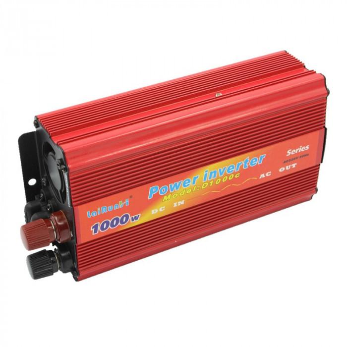 Invertor tensiune 12V-220V Lairun, 1000 W, putere continua 665 W