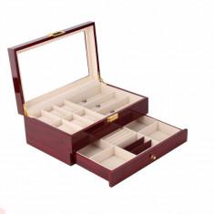 Cutie depozitare ceasuri, ochelari ?i bijuterii LEMN