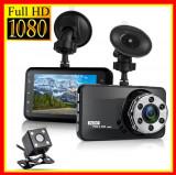 Camera Auto Video,Dubla, HD Filmare timp  Noapte Real Camera fata spate Parcare