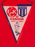 Fanion fotbal UNIVERSITATEA CRAIOVA-KAISERSLAUTERN(Cupa UEFA 16.03.1983)