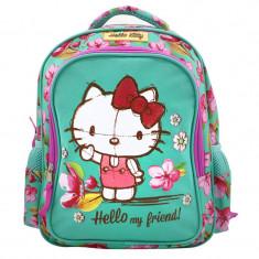 Ghiozdan fetite Hello Kitty, 30 cm, Multicolor, Fata