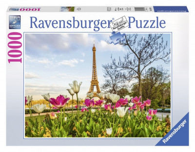 Puzzle Lalele Si Turnul Eiffel, 1000 Piese foto