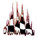 Autocolant Burning flag 1buc 67x49cm - Rosu ManiaMall Cars