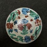 4. Farfurie veche din ceramica pentru agatat pe perete blid vechi lut 21,5 cm