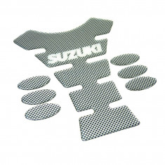 Protectie rezervor motocicleta tankpad carbon Suzuki