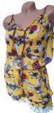 Salopeta scurta in bretele cu model floral pentru dama cod 591
