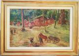 Tablou Tantzi Demetriade Ștefan, Scene gen, Pastel, Impresionism