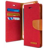 Husa APPLE iPad Mini 2/3 (7.9″) – Canvas Diary (Rosu)
