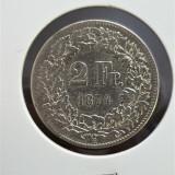 Elvetia 2 franci 1874 Ag .835, Europa, Argint