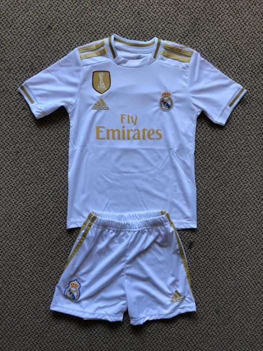 Compleu Echipament fotbal pentru copii 5-6 ANI REAL MADRID HAZARD NR. 7