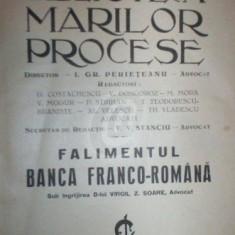 Biblioteca marilor procese - Falimentul Banca Franco-Romana, vol. XI