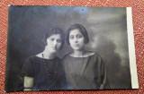 Doua tinere - Fotografie tip carte postala datata 1924