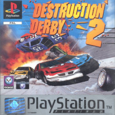 Destruction Derby 2 PLATINUM - PS1 [Second hand], Multiplayer, Curse auto-moto, Toate varstele