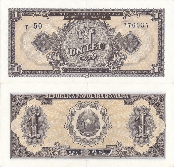 1952 (26 I), 1 leu (P-81b) - România - stare XF+