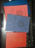 LOT CARNET DE EVIDENTIERE PIONIER +3 CARNETE DE NOTE R.S.R.Vechi/colec,T.GRATUIT