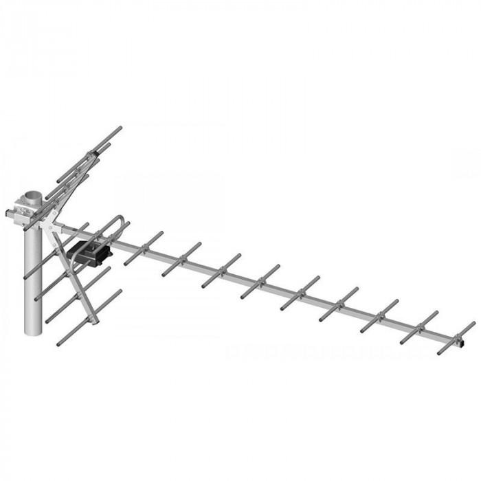 Antena de camera pentru TV Yagi 21-60, 19 elemente