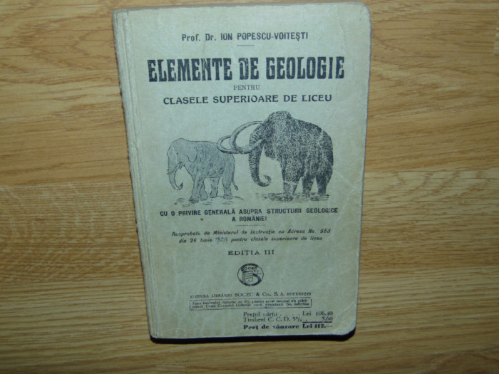 ELEMENTE DE GEOLOGIE PTR CLASELE SUPERIOARE DE LICEU-ION POPESCU VOITESTI