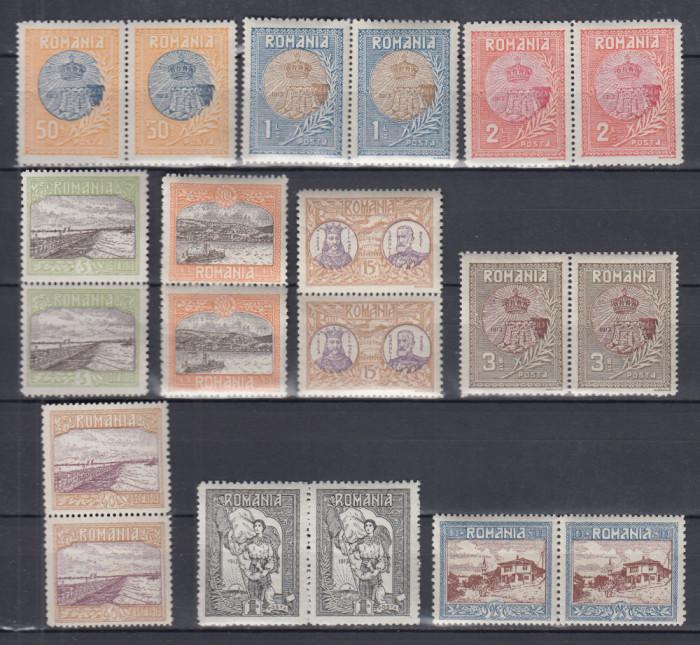 ROMANIA 1913  LP 69   SILISTRA   PERECHE  SERII    MNH
