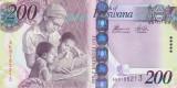 Bancnota Botswana 200 Pula 2015 - P34e UNC