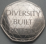 Moneda 50 pence 2020 Marea Britanie, Diversity, Aunc / Unc, Europa
