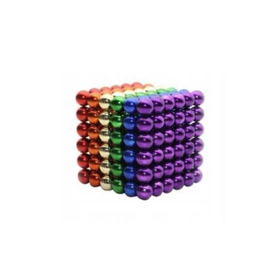 Joc Puzzle Antistres NeoCube cu 216 Bile Magnetice Multicolore, Diametru 5mm foto