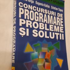 Concursuri de programare Probleme si solutii