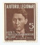 România, LP IX.2/1934. Mărci pentru ajutorul legionar, 2 lei, brun, MNH