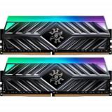 Memorii ADATA XPG Spectrix D41 Tungsten Grey RGB 16GB(2x8GB), DDR4-3200MHz, CL16, Dual Channel, A-data
