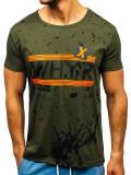 Tricou cu imprimeu bărbați verde Bolf KS1832